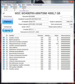 Жесткий диск WDRed WD40EFRX, 4Тб, HDD, SATA III, 3.5