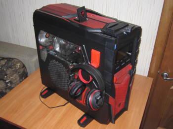 Гарнитура игровая ASUS ROG Orion, для компьютера, мониторы, черный / красный [90-yahi8110-ua00]