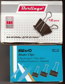 Зажимы Kw-Trio DC-41 сталь 41мм черный (упак.:12шт) картонная коробка