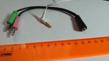 Адаптер аудио HAMA H-54572, Jack 3.5 (f)— 2xJack 3.5 (m) , черный [00054572]