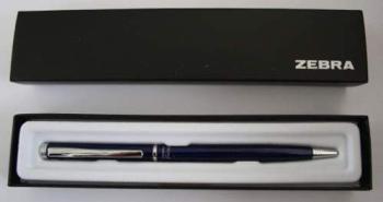 Ручка шариковая Zebra FORTIA 500 (BA81-BK-BL) авт. 0.7мм черный синие чернила коробка подарочная