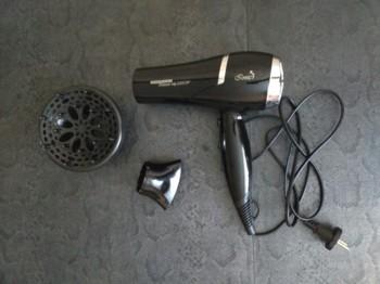 Фен REDMOND RF-511, 2200Вт, черный и серебристый