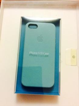 Чехол (клип-кейс) APPLE MF044ZM/A, для Apple iPhone 5s, голубой