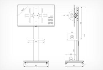 Подставка для телевизора Holder PR-106 черный 26-70 напольный наклон