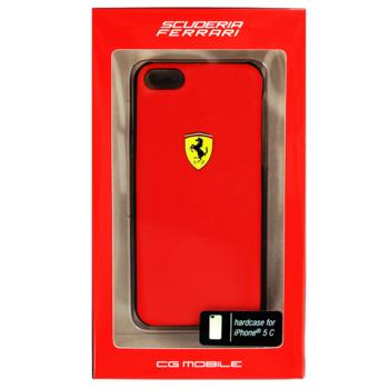 Чехол для iPhone 5cFerrari FESCHCPMRE Scuderia Hard красный (FESCHCPMRE)