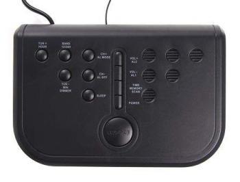 Радиобудильник ROLSEN CR-112, зеленая подсветка, черный