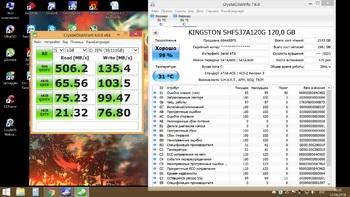 SSD накопитель KINGSTON HyperX FURY SHFS37A/120G 120Гб, 2.5, SATA III
