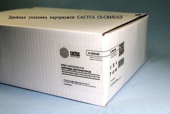 Картридж (двойная упаковка) CACTUS CS-CB435AD, черный