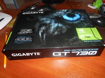 Видеокарта GIGABYTE nVidia GeForce GT730 , GV-N730D5-2GI, 2Гб, GDDR5, Ret