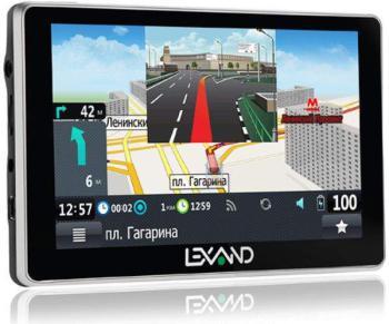 Навигатор LEXAND SA5HD+, 5, авто, 4Гб, Navitel 8.7 с расширенным пакетом картографии, черный