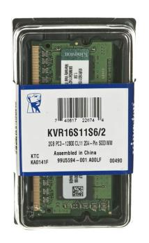 Модуль памяти KINGSTON VALUERAM KVR16S11S6/2 DDR3 — 2Гб 1600, SO-DIMM, Ret